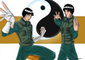 Rock Lee and Gai Sensei by Metissdzil