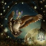 Owl and Faerie by celtic-ronin
