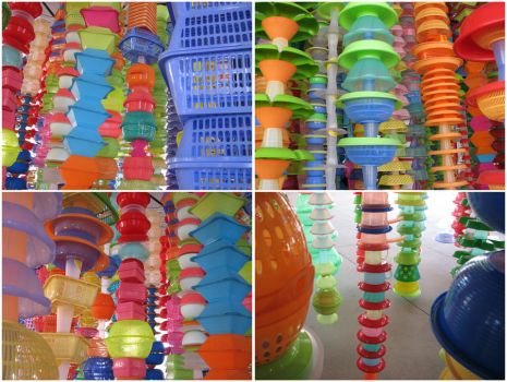 The Plastic Basket Forest by tursiart
