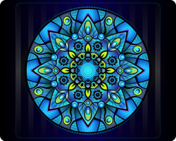 Mandala Blue by Viscious-Speed