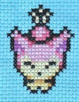 PMD Cross Stitch 1: Skitty by missy-tannenbaum