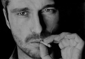 Gerard Butler (drawing) by Jeroen88