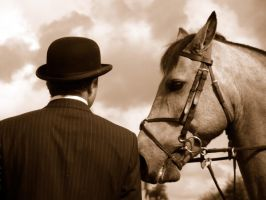 Man and Horse by Aura3107