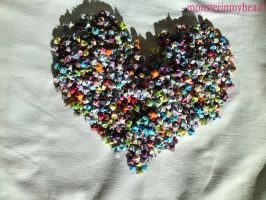 Lucky paper stars in a heart 2 by monsterinmyhead