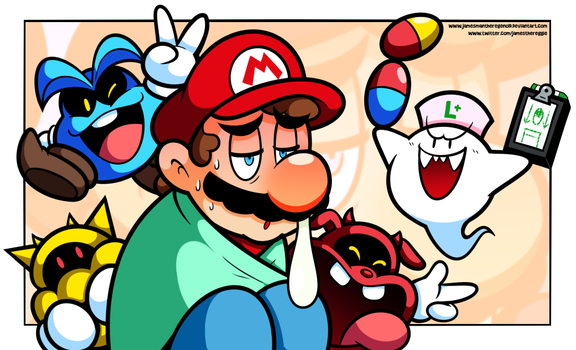 Dr. Mario ... calling in Sick by JamesmanTheRegenold