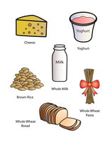 9 Whole Grains n Calcium Cards by FightTheAssimilation