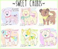[closed] Sweet Chibi Pups by Ice-Flakes