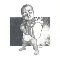 Baby Skrull by AaronKuder