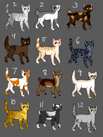 Warrior Cat Adopts .:20-25 POINTS:. by barn-owls
