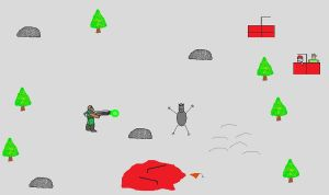 Doomguy vs The Snow Monster by Starmansurfer