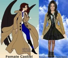 Female Castiel by misstudorwoman