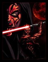 Darth Maul Portrait by Shadrak