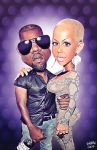 Kanye and Amber by koblein