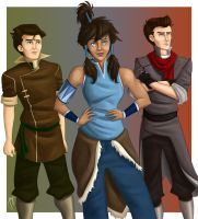 The Korra Gang Revisited by blindbandit5