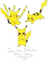 Join the Pikachu Army by DemoniumAngel
