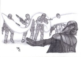 Darth Vader attack by Master-Cyrus