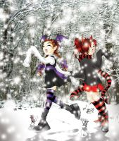 Snow Little Goth Girls by Axcido