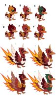 Terra Monsters - Fire Duck Color Pass by Moonshaft