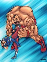 chun li vs zangief by GONZZO