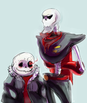 Art for an undertale au called underfell by J3rry1ce