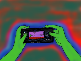 Aliens play game boys too by Valenmere