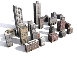 Low Poly NYC buildings by dactilardesign