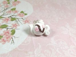 Charms: Cherry Blossom Teapot by kitcat4056