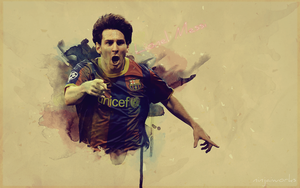 lionel messi wallpaper by NINJAIWORKS