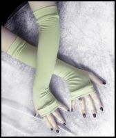 Spring Clover Arm Warmers by ZenAndCoffee