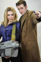 Rose Tyler and Tenth Doctor Cosplay by StrangeStuffStudios