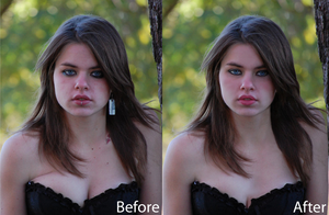 Face: Retouched by NurseTab