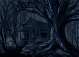 house in the dark forest by soldiercloud42