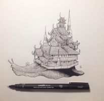 Snail Temple by kerbyrosanes