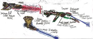 Laser General Vehicle Drones by Lord-DracoDraconis