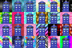 Glittery TARDIS Downloadable Icon Pack #3 by Chrisily