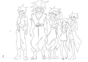 The Cast of Ignition by darkhawk5