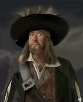 Geoffrey Rush as captain Hector Barbossa by LadyThornXDrJackal