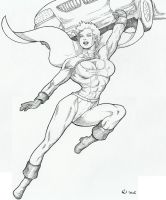 Powergirl pinup by Yatz by zefly88