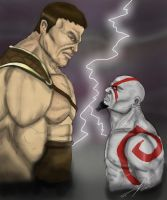 Kratos vs Hercules by smthcrim89