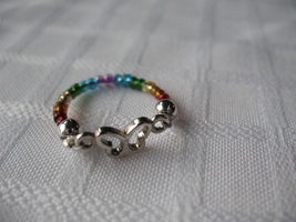 Rainbow Butterfly Ring by sampdesigns