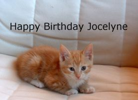 Happy Bithday Jocelyne by WendyMitchell