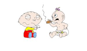 Baby Herman and stewie griffin by naniloke