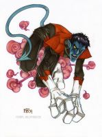 Nightcrawler commission copics by Sweatybuffalo