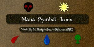 Mana Symbol Icons Windows by MidknightStarr