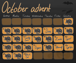 October advent calendar (closed) by tapiocAdopts