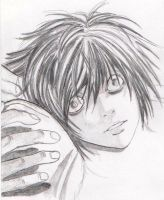 L from Death Note by DeBeginning