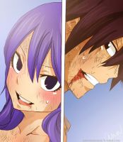 (Fairy Tail) Gruvia Panel Colored by xBebiiAnn