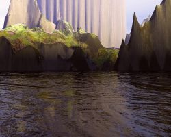 Wrecked Pillars by indriojan