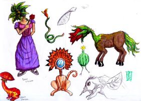 fantastic sketches of flora by deinoscaos