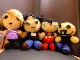Friends amigurumis by norencita